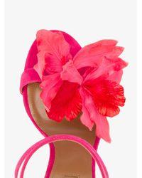Aquazzura - Pink Flora Sandals - Lyst