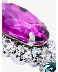 Alessandra Rich - Metallic Large Fringe Crystal Embellished Clip-on Earring - Lyst