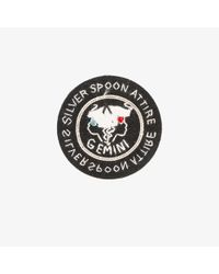 Silver Spoon Attire | Black Gemini Star Sign Badge | Lyst