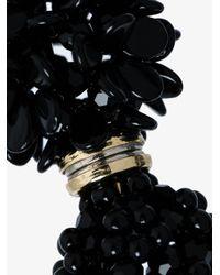 Simone Rocha | Black Beaded Floral Earring | Lyst