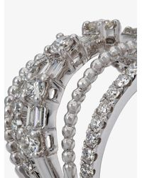 SHAY - Metallic Baguette Diamond Five Row Ring - Lyst