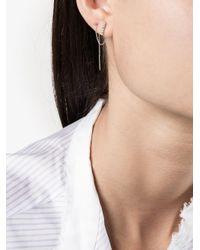 Lizzie Mandler - Metallic Chevron Thread Diamond Earrings - Lyst