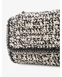 Stella McCartney - Black Woven Falabella Shoulder Bag - Lyst