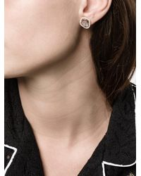 Saqqara - Metallic Sliced Diamond Earrings - Lyst
