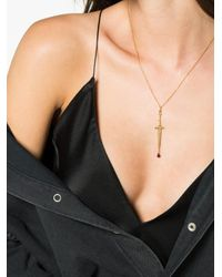 Pamela Love - Gray Mini Dagger Necklace - Lyst