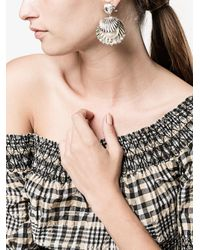 Miu Miu - Metallic Shell Pearl Drop Earrings - Lyst