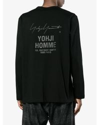 Yohji Yamamoto - Black Staff Address Print Long Sleeve T-shirt for Men - Lyst