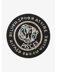Silver Spoon Attire - Black Pisces Star Sign Badge - Lyst