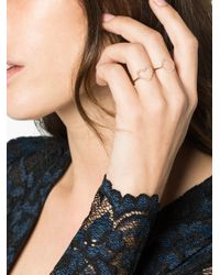Rosa De La Cruz - Metallic Rose Gold And Diamond Heart Ring - Lyst