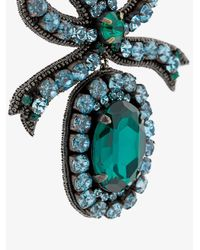 Gucci - Green Crystal Embellished Bow Earrings - Lyst