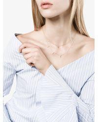 Lizzie Mandler - Metallic 18kt Gold Floating Triangle Diamond Necklace - Lyst