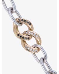 Jelena Behrend | Metallic Curb Meets Zeus Diamond Bracelet | Lyst