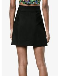 Miu Miu - Black - Pearl And Crystal Embellished Buttoned Mini Skirt - Women - Polyester/viscose/metal/glass - 44 - Lyst