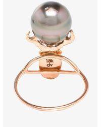Daniela Villegas - Pink Ruby And Pearl Beetle Ring - Lyst