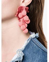Rosie Assoulin - Multicolor Crochet Grapes Earring - Lyst