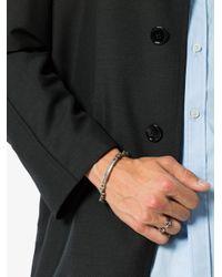 Alexander McQueen - Gray Silver Mini Skull Bracelet for Men - Lyst