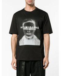 Helmut Lang - Black Ghost Face Cotton T-shirt for Men - Lyst