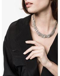Saqqara - Metallic 18kt White Gold And Diamond Necklace - Lyst