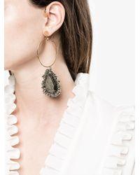 Alexander McQueen - Metallic Jewelled Hoop Earring - Lyst