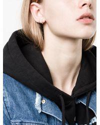 Ileana Makri - Metallic Diamond Mini Hoop Earrings - Lyst