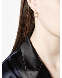 Paige Novick - Metallic Small Modular Diamond Single Hoop Earring - Lyst