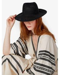 Maison Michel - Black Hat With Grosgrain Ribbon - Lyst