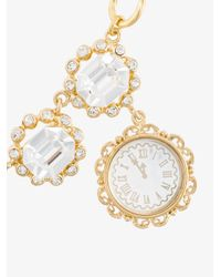 Dolce & Gabbana - Gray Clock Pendant Necklace - Lyst