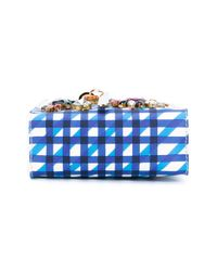 Sophie Hulme - Blue Nano Albion Checked Bag - Lyst