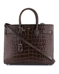 Saint Laurent - Brown Small Sac De Jour Leather Tote Bag - Lyst