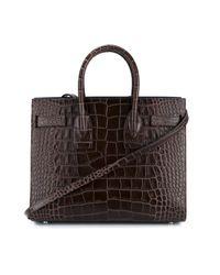 Saint Laurent - Brown Small Sac De Jour Leather Tote Bag - Lyst