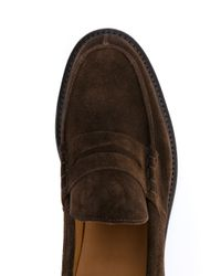 Tricker's - Brown Suede Loafers for Men - Lyst