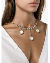 Dolce & Gabbana - Gray Clock Pendant Necklace - Lyst