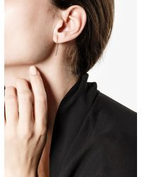 Melissa Joy Manning - Gray Large Curved Bar Earrings - Lyst