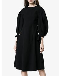 Rejina Pyo - Black Longsleeved Knee Length Voluminous Dress - Lyst