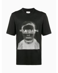 Helmut Lang - Black Ghost Face Cotton T-shirt for Men - Lyst