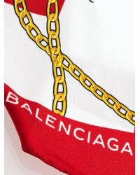 Balenciaga - Black Chain Jewels Scarf Plissé Bracelet - Lyst