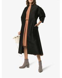 Totême  - Black Short Sleeve Single-breasted Coat - Lyst