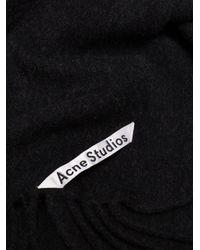 Acne - Blue Black Canada New Wool Scarf - Lyst