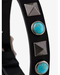 Valentino | Black Turquoise Studded Bracelet for Men | Lyst