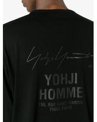 Yohji Yamamoto - Black Staff Address Print Long Sleeve T-shirt for Men - Lyst