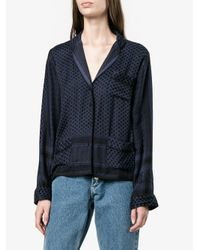 Cecilie Copenhagen - Blue Keffiyeh Print Pyjama Shirt - Lyst