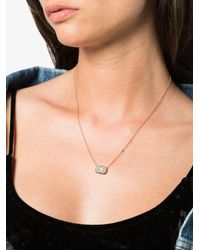 SHAY - Metallic Rose Gold Baguette Diamond Necklace - Lyst