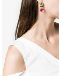 Katerina Makriyianni - Multicolor Gemstone Drop Earrings - Lyst