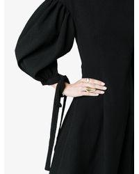 Rejina Pyo - Black Longsleeved Knee Length Voluminous Dress - Lyst