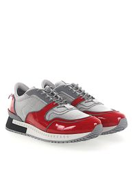 Givenchy - Sneakers Runner Patent Leather Red Mesh Grey for Men - Lyst