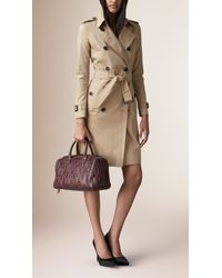 Burberry - Brown The Medium Alchester In Python Dusky Mauve - Lyst