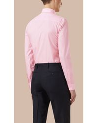 Burberry | Modern Fit Button-down Collar Gingham Cotton Shirt City Pink for Men | Lyst