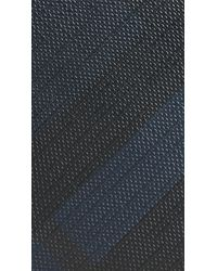 Burberry - Blue London Check Money Clip Wallet Navy/black for Men - Lyst