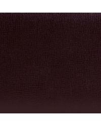 Burberry - Purple London Leather Ziparound Wallet Wine for Men - Lyst