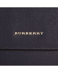 Burberry - Blue London Leather Briefcase Dark Navy for Men - Lyst